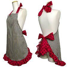 かわいい エプロン - Google 検索 Retro Apron Patterns, Sewing Patterns, Jean Apron, Modern Aprons, Cool Aprons, Sewing Aprons, Apron Designs, Apron Dress, Sewing Projects