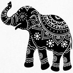 Design indian elephant T-Shirts Customize the design Indian decorated elephant India