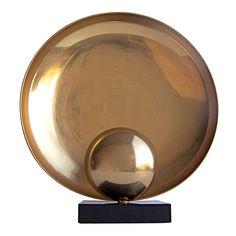 Large Sculptural Copper Table Lamp 1960s