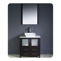 The Art Gallery Torino Modern Bathroom Vanity Set with Vessel Sink