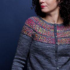 Ravelry: Iris cardigan knitting pattern by Marie Amelie Designs Fair Isle Knitting, Amelie, Knitting Projects, Knit Cardigan, Knit Crochet, Knitwear, Knitting Patterns, Ravelry, Dec 12