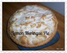 This is a recipe for Lemon Meringue Pie that is made in the microwave.  No standing at the stove stirring!   It is quick and easy to make.  I included my favorite recipe for no shortening pie crust.