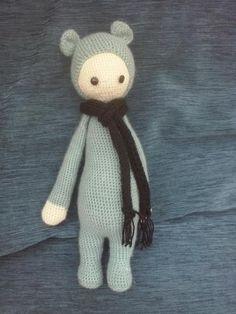 BINA the bear made ny Anne M. / crochet pattern by lalylala