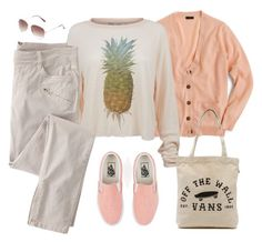 """Them Vans"" by lence-59 ❤ liked on Polyvore featuring J.Crew, Vans, Wildfox and Wrap"