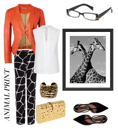 """Lovely Giraffes"" by kiwipenguin on Polyvore featuring Armani Jeans, Edie Parker, Richards Radcliffe, Hobbs, Steve Madden, I Heart Eyewear, William Stafford and Diane Von Furstenberg"