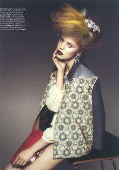 Portugal / Vogue / February 2012 #Vogue #tara_jarmon #shorts #shirt