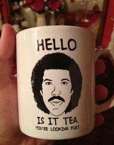 Lionel Ritchie mug - I want!