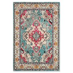 Designed to bring Bohemian-chic flair to a classic Persian style, the distressed multicolor Safavieh Monaco Vintage Bohemian Rug features a high and low loop pile mix of power-loomed, hard-wearing polypropylene yarn to accentuate any room in your home.