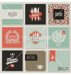 Retro-styled restaurant menu designs vector on VectorStock®