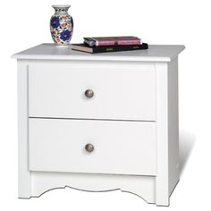 Shop Prepac Monterey Nightstand - 2 Drawers - x x - White at Lowe's Canada online store. Find Nightstands at lowest price guarantee. White Nightstand, 2 Drawer Nightstand, Nightstands, Dressers, Lowes Home, Bedroom Night Stands, Wholesale Furniture, Inspired Homes, Medium