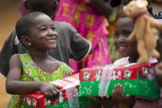 Oh the power of a shoebox gift...