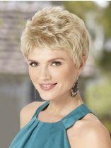 Trendy Blonde Wavy Synthetic Short Wigs
