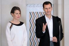 Syrian President Bashar Assad and his wife Asma.  The Syrian President is located in the international energy war that could be currently decided in Aleppo through urban warfare.  (Photo: AP)