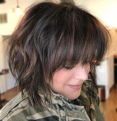 Textured Brunette Bob Cut