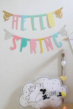 A Little Lovely Company letterslinger / word banner pastel