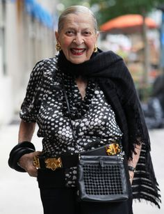 Beautiful, stylish and social at 100....    ADVANCED STYLE: The Secret to Becoming a Grand 100 Year Old Lady
