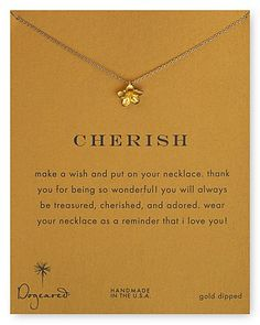 """Dogeared Plumeria Flower Pendant Necklace, 18"""" 