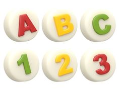 ABC + Number Chocolate / Oreo Cookie Molds