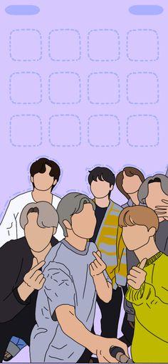 BTS WALLPAPER. Purple wallpaper