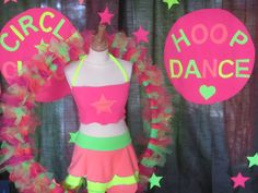 #Selfmade  Tulle Fabric #HulaHoop #Fluor Performings Outfit  . Deco Curtains Stars