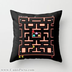 Ms. Pac-Man Video Game Throw Pillow 16x16 Graphic Decorative Cover Pop Culture Pac Man Gamer Hot 80s 90s Kid Black Nerdy Nerd Geek Geekery on Etsy, 235,22kr