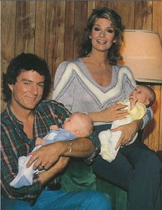 Roman and Marlena with newborn Sami and Eric.