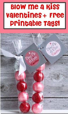 Blow Me a Kiss Valentines! {+ Free Printable Tags} - The Frugal Girls DIY Valentine's Day Ideas for handmade Valentine cards, treats, decorations and everything Valentine Crafts For Kids, Valentine Decorations, Valentines Diy, Valentine Day Gifts, Kids Crafts, Holiday Crafts, Easy Crafts, Best Teacher Gifts, Free Printable Tags