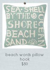Seaside Inspired | Beach Decor | coastal pillows from SeasideInspired.com.