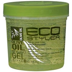 (ECO STYLER Olive Oil Styling Gel) After I add my styling creme (currently Shea Moisture's Curl & Shine Conditioning Milk), I then add EcoStyler's Olive Oil Gel to my hair.  I normally don't use gel; however, after seeing rave reviews about this stuff from other naturals, I gave it a try.  Hands down, this stuff is great!! Helps with curl definition and doesn't dry out hair.