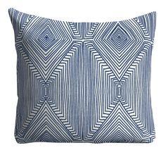 Nate Berkus Pillows fabric,Several Sizes available, Couch Pillows, decorative pillows, Indigo Pillows,Blue and white Throw Pillows