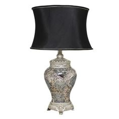 Shop for Casa Cortes 'Architectural' Hand-crafted Silver Mosaic Table Lamp. Get free shipping at Overstock.com - Your Online Home Decor Outlet Store! Get 5% in rewards with Club O! - 16000988