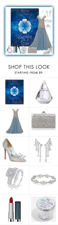 """""""Shine Like a Diamond"""" by lsmom ❤ liked on Polyvore featuring Pier 1 Imports, Marchesa, Ashlyn'd, Jimmy Choo, Anita Ko and Maybelline"""