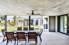 This contemporary farm house was designed around a central courtyard to create privacy. An ode to the farmhouse design, incorporating glass and steel. Farmhouse Design, Modern Farmhouse, Outdoor Spaces, Outdoor Living, Gazebo, Pergola, Bay Window, Patio Design, Facade