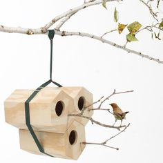 NeighBirds Modular Birdhouse by Utoopic #Bird, #HandMade, #House