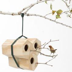 NeighBirds Modular Birdhouse by Utoopic #Bird, #Cute, #House, #Modular, #Wood