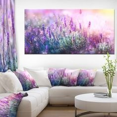 Shop for Growing and Blooming Lavender - Floral Photo Canvas Art Print - Purple. Get free delivery On EVERYTHING* Overstock - Your Online Art Gallery Store! Get in rewards with Club O! Canvas Art Prints, Framed Art Prints, Canvas Wall Art, Best Canvas, Canvas Online, Landscape Artwork, Photo Canvas, Metal Wall Art, Design Art