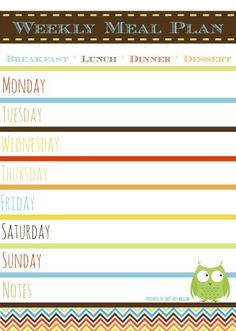 ... Pack. Weekly and Daily Meal Plan, Daily Food Diary and Shopping List