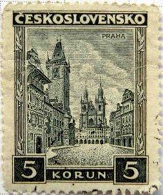 Vintage Czechoslovakia postage stamp