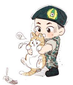 Exo Fanart, Chanbaek Fanart, Kaisoo, Chibi Boy, Bts Chibi, Exo Cartoon, Cartoon Art, Exo Anime, Anime Art