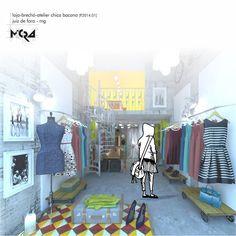 Projeto de reforma loja-brechó-atelier _ _ _Arquitetura.Urbanismo.Mobiliário.Decoração