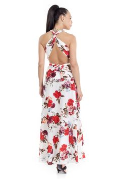 4ce55d835849 -Φόρεμα Πολυμορφικό εμπριμέ -Με τιράντες που διαμορφώνονται κατ  επιλογή  -Σταθερό ύφασμα -Δεν έχει φερμουάρ -Έχει λαστιχάκι στο πίσω μέρος της  πλάτης για ...