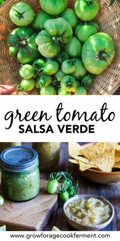 This green tomato salsa verde is a delicious way to use up the green tomatoes in your garden. Can your own homemade salsa with homegrown ingredients! #green #tomato #salsa #verde #canning #preserving #summerrecipes