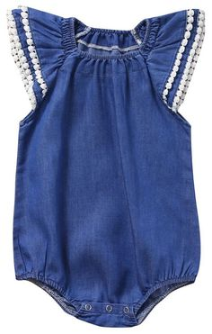 8b0b73c247 SALE 50% OFF + FREE SHIPPING! SHOP Our Denim One Piece Romper for Baby