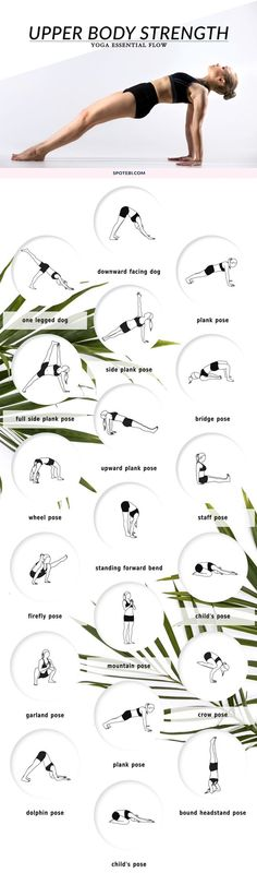 Build strength in the shoulders, arms, chest, and upper back and improve your flexibility with this upper body strengthening yoga flow. Breathe deeply, keep your body balanced and engage your core for stability as you move through these challenging poses. https://www.spotebi.com/yoga-sequences/upper-body-strength-flow/
