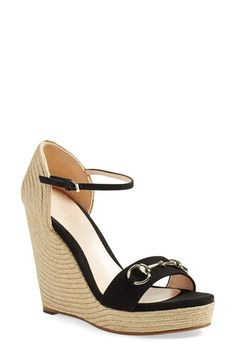 7b8b2a6da03 Gucci Carolina Ankle Strap Wedge (Women)