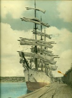 Herzogin Cecilie moored in South Australia, 1910-1940