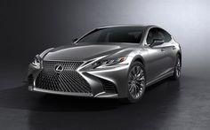 Lexus LS, 2018, luxury sedan, new Lexus, silver LS, luxury cars