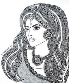 new :) by Tatyanka-Gunchak on DeviantArt Doodle Art Drawing, Zentangle Drawings, Mandala Drawing, Cool Art Drawings, Art Drawings Sketches, Zentangles, Buddha Kunst, Buddha Art, Mandala Art Lesson