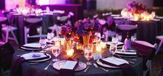 romantic candlelight reception