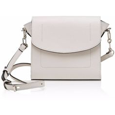 Joanna Maxham - The Runthrough Cross Body Bag White (30.795 RUB) ❤ liked on Polyvore featuring bags, handbags, shoulder bags, mini crossbody purse, leather purses, leather handbags, crossbody purses and cross-body handbag
